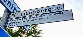 Märta Ljungberg - One of Ljungby's major arterial roads is named after Märta Ljungberg.