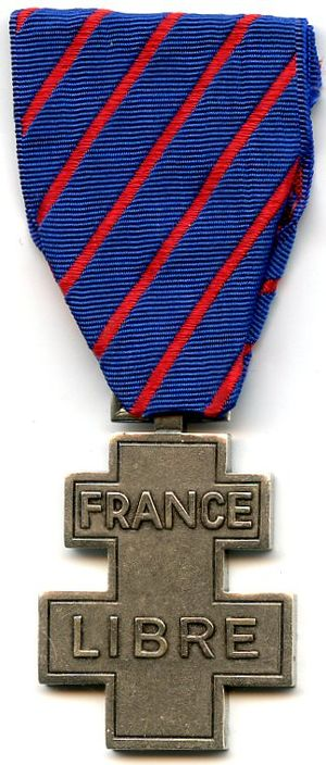 Commemorative medal for voluntary service in Free France - Image: Médaille commémorative des services volontaires dans la France libre
