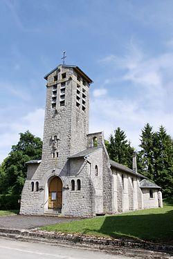 Ménil-Annelles (08 Ardennes) - l' Église Saint- Nicolas - Photo Francis Neuvens lesardennesvuesdusol.fotoloft.fr.JPG