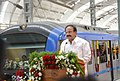 M. Venkaiah Naidu addressing at the flag-off ceremony of the Metro Rail passenger service between Airport to Little Mount, in Chennai.jpg