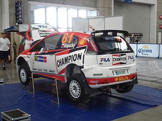 Jan Kopecký - Kopecký at the 2008 Rally México.