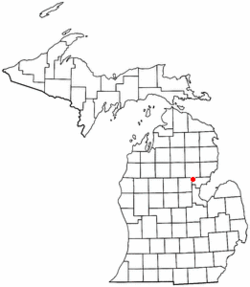 Location of Moffat Township in Michigan