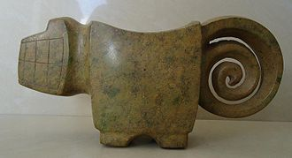 Valdivia culture - Mortar, Jaguar Valdivia, South Coast (4000 to 1500 B.C)