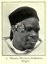 A Hausa man of Western Sudanese Negroid type.