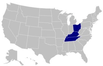 Mid-South Conference - Image: MSC USA states