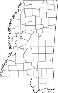 Location of Cedarbluff, Mississippi
