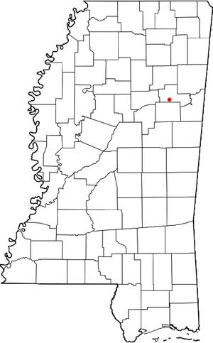 Cedarbluff, Mississippi - Location of Cedarbluff, Mississippi