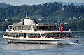 MS 'Helvetia' der Zürichsee-Schifffahrts-Gesellschaft (ZSG) vor Rapperswil, Ansicht vom Seedamm 2012-10-05 15-34-07.JPG