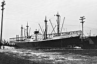 MS Reifenstein cargo ship of the North German Lloyd at the Port of Baltimore - 1960.jpg