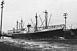 The Reifenstein 1960 in the port of Baltimore