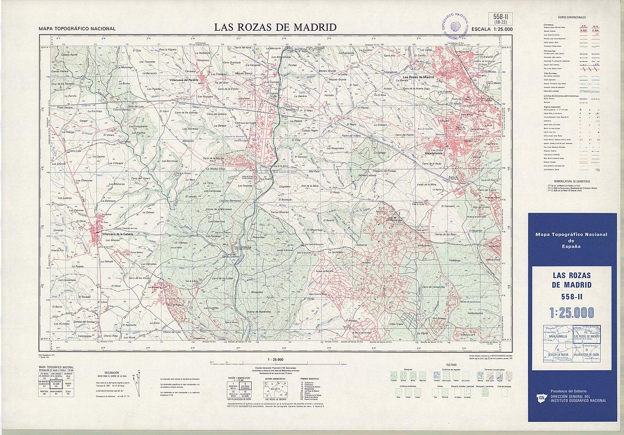 Las Rozas Madrid Mapa.File Mtn25 0558c2 1982 Las Rozas De Madrid Jpg Wikimedia