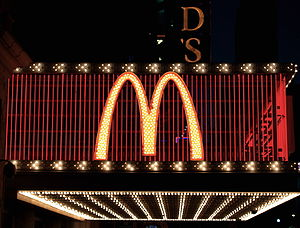 MacDonalds sign in Times Square, New York