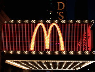 Golden Arches - The Golden Arches used on the exterior of the Times Square McDonald's restaurant.