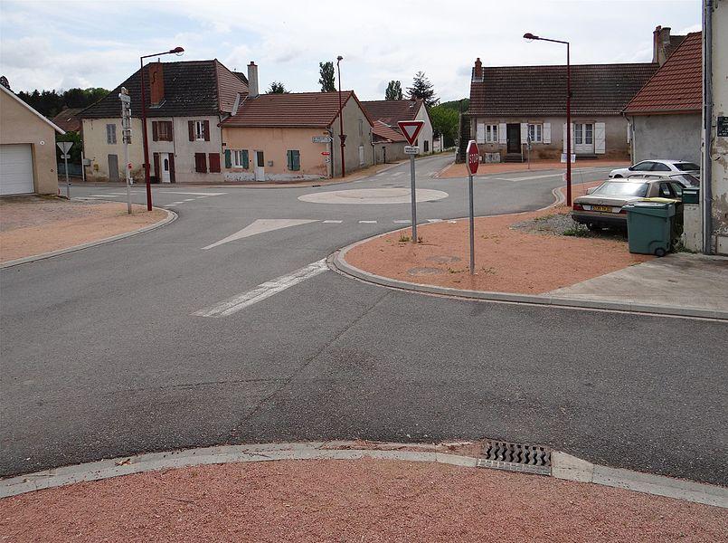 Place Edmond Gamet, Magnet, Allier, France.