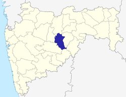 Location of Parbhani district in Maharashtra