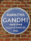 Mahatma Gandhi 1869-1948 stayed here in 1931.jpg