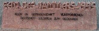 Bretzenheim - Image: Mahnmal Feld des Jammers 3