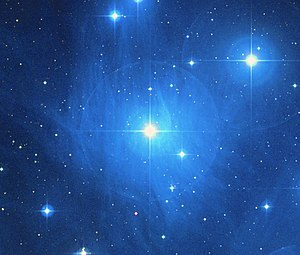 Maia, in Pleiades Star Cluster