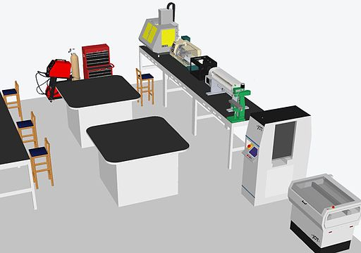 Maker space layout