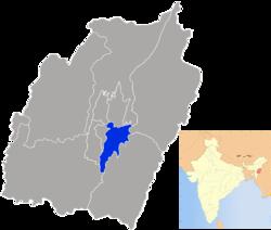 Vị trí của Huyện Thoubal