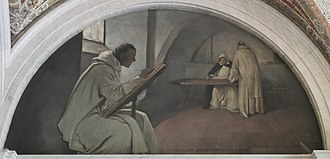 Scriptorium - John White Alexander, Manuscript Book mural (1896), Library of Congress Thomas Jefferson Building, Washington, D.C.