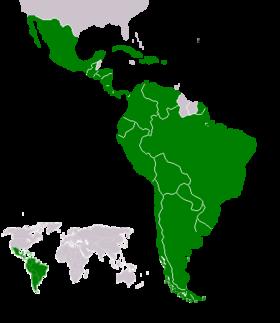 Ubicación de América Latina