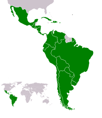 Afro-Latin Americans - Map of Latin America