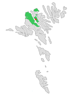 Location in the Faroe Islands