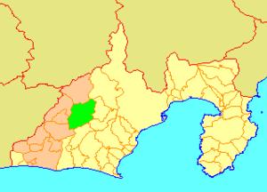 Haruno, Shizuoka - Image: Map.Haruno.Shizuoka