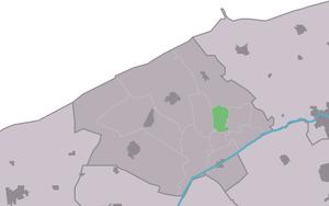 Ginnum - Image: Map NL Ferwerderadiel Ginnum