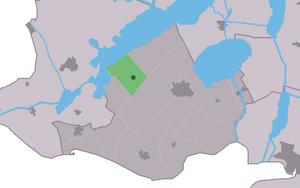 Oudega, De Fryske Marren - Image: Map NL Gaasterlân Sleat Aldegea