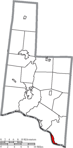 Location of Aberdeen in Brown County