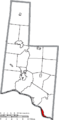 Map of Brown County Ohio Highlighting Aberdeen Village.png