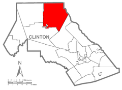 Map of Chapman Township, Clinton County, Pennsylvania Highlighted.png