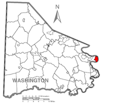 Map of Donora, Washington County, Pennsylvania Highlighted.png