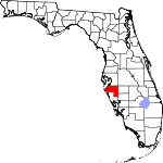 A state map highlighting Manatee County in the southern part of the state. It is medium in size.
