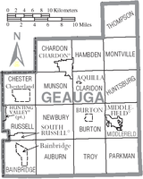 Municipalities and townships of Geauga County