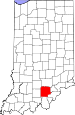 Map of Indiana highlighting Washington County.svg