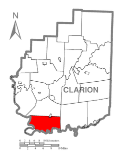 Map of Madison Township, Clarion County, Pennsylvania Highlighted.png