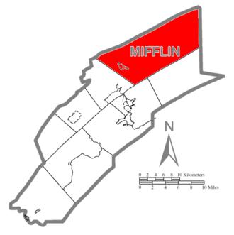 Armagh Township, Mifflin County, Pennsylvania - Image: Map of Mifflin County Pennsylvania Highlighting Armagh Township