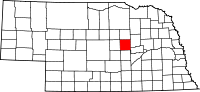 Map of Nebraska highlighting Greeley County