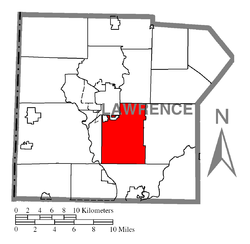 Location of Shenango Township in Lawrence County