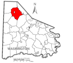 Map of Smith Township, Washington County, Pennsylvania Highlighted.png