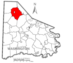 Location of Smith Township in Washington County