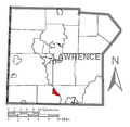 Map of Wampum, Lawrence County, Pennsylvania Highlighted.png