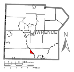 Location of Wampum in Lawrence County