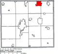 Map of Wayne County Ohio Highlighting Rittman City.png