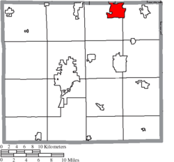 Location of Rittman in Wayne County