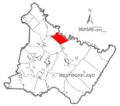Map of Westmoreland County, Pennsylvania Highlighting Loyalhanna Township.PNG
