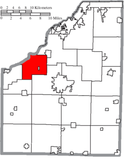 Location of Washington Township in Wood County